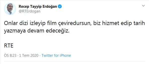 Erdoğan'dan Akşener ve Kılıçdaroğlu ve Pervin Buldan göndermesine yanıt