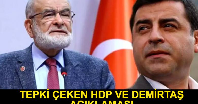 Karamollaoğlu'ndan HDP ve Demirtaş' çıkışı