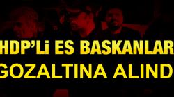 HDP  Li Eşbaşkanlar Gözaltına Alındı.
