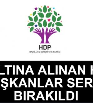 Gözaltına Alınan HDP Li Eşbaşkanlar Serbest Bırakıldı.