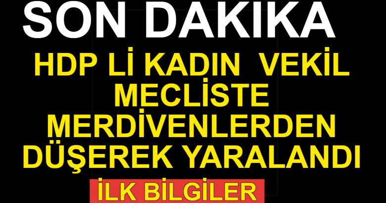 HDP'li vekil Meclis'te merdivenlerden düştü