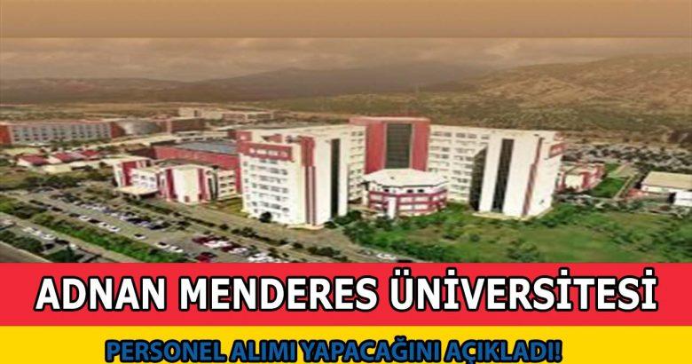 Adnan Menderes Üniversitesi 45 Sözleşmeli Personel Alımı Yapıyor!