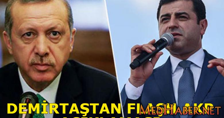 Demirtaştan AKP Açıklaması