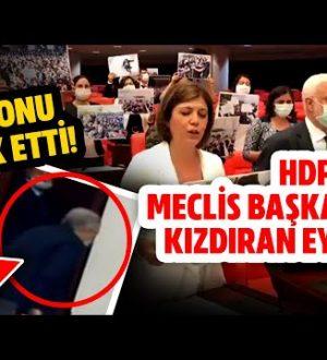 HDP Mecliste  Protesto Yaptı Meclis Başkanı  Dayanamadı Salonu Terk Etti