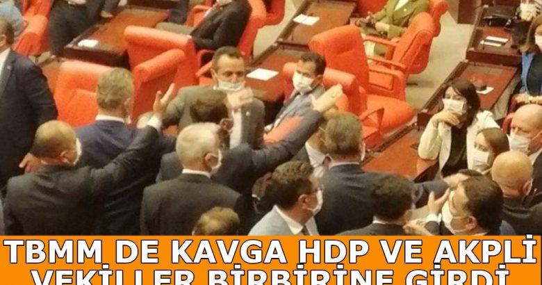 TBMM'de HDP ve AKP'li vekiller birbirine girdi