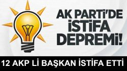 Diyarbakır'da AKP'li 12 İlçe Başkanı İstifa Etti