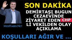 """CHP li Vekil Demirtaşı Ziyaret Etti"""" Koşulları Ağır"""" Dedi Ve"""