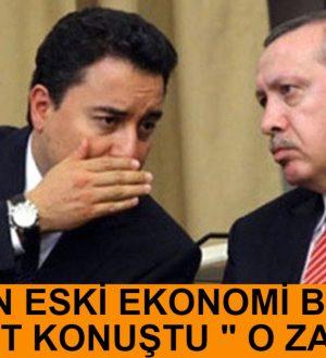 Cumhurbaşkanı Erdoğanda Babacan Sert Sözler