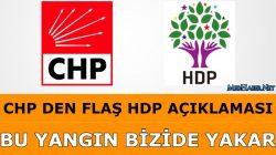 CHP Den Flash HDP Açıklaması