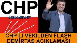 CHP li Vekilden Selahattin Demirtaş Açıklaması