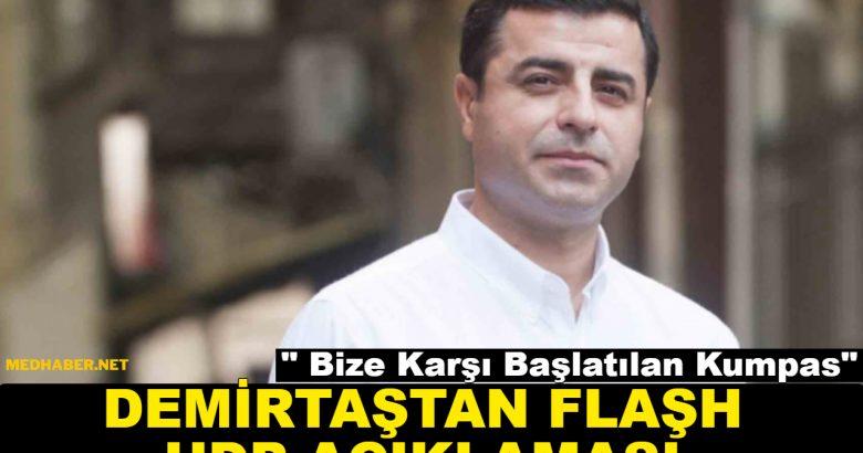 Demirtaştan HDP Açıklaması