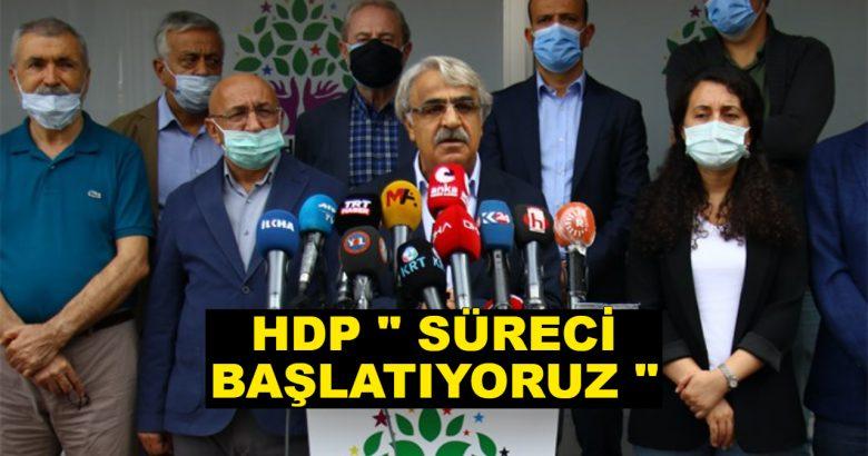 HDP Den Açıklama Süreci Başlatıyoruz