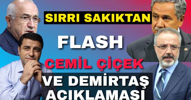Sırrı Sakık'tan Selahattin Demirtaş Ve Cemil Çiçek Açıklaması