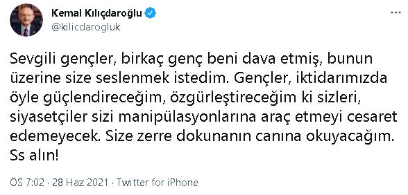 Kılıçdaroğlu: Size zerre dokunanın canına okuyacağım